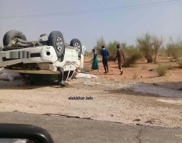 حادث سير سابق على طريق روصو نواكشوط
