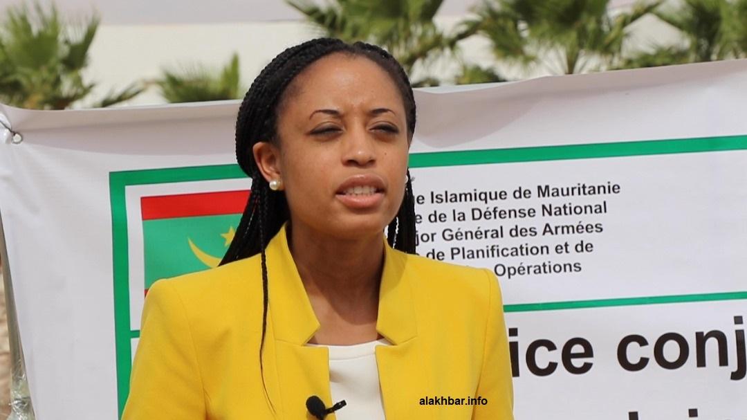 نائبة رئيس المكتب الإعلامي التابع لوزارة الخارجية الأمريكية في دبي جير الدين قاسم غريفيث خلال حديثها للأخبار