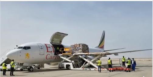 طائرة شحن تابعة للخطوط الأثيوبية تحط في مطار نواكشوط