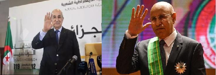 الرئيسان الموريتاني والجزائري