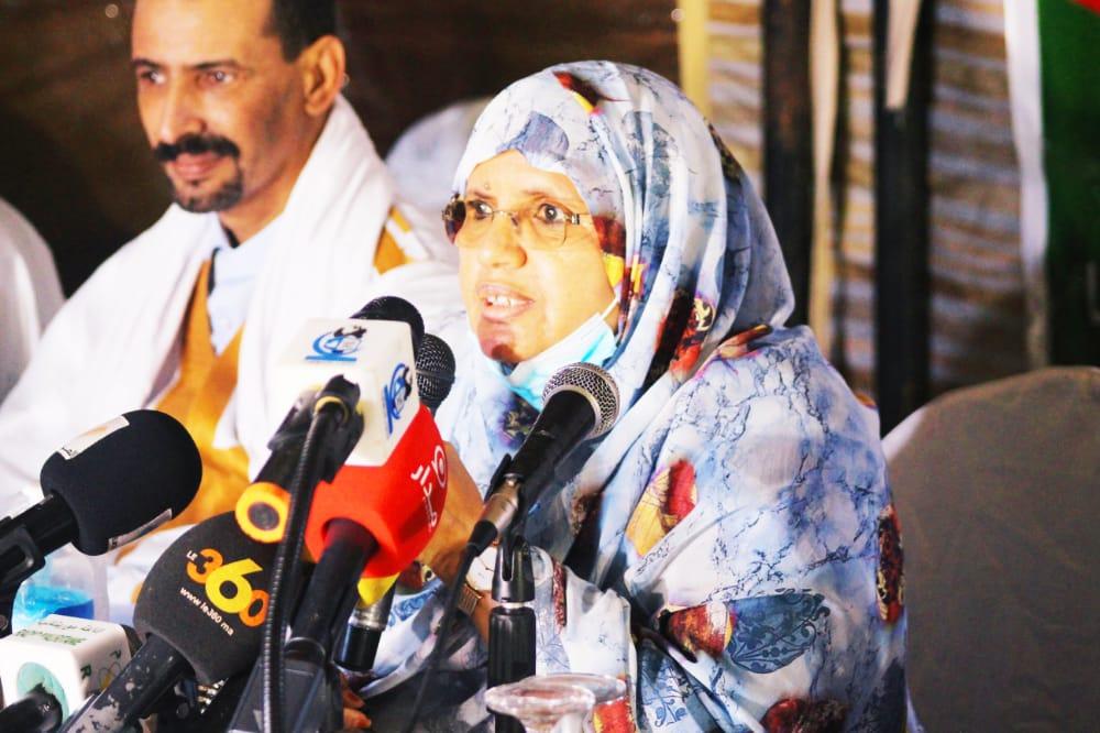 رئيس جهة نواكشوط فاطمة عبد المالك خلال خطابه في حفل الإفطار