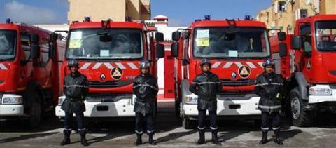 سيارات تابعة للحماية المدنية في موريتانيا