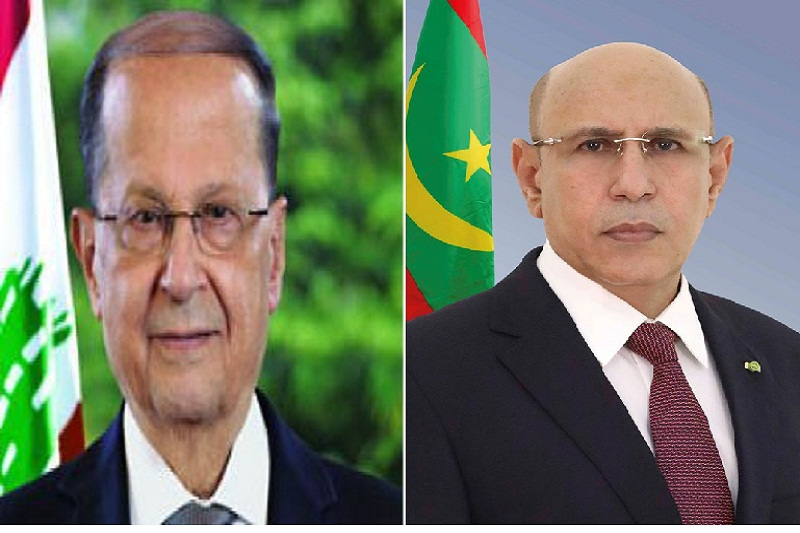الرئيسان الموريتاني محمد ولد الغزواني، واللبناني ميشال عون