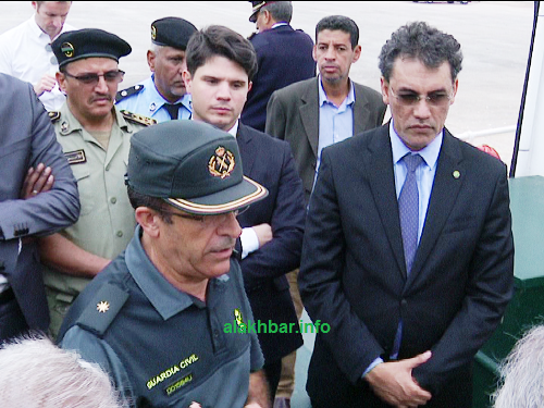 جانب من طاقم وزيرة الخارجية إلى جانب السلطات الإدارية والأمنية/ الأخبار