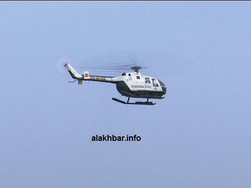 جولة قصيرة في المروحية وعلى متنها الوزيرة الإسبانية/ الأخبار