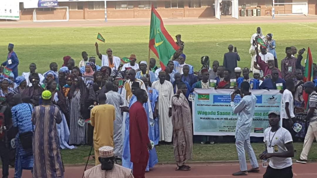 الوفد الموريتاني المشارك في المهرجان المنظم في بانجو غاصمة غامبيا