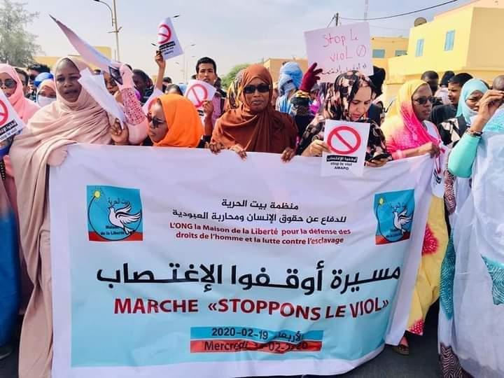 مسيرة سابقة ضد الاغتصاب بالعاصمة نواكشوط