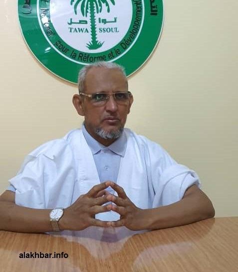 """رئيس حزب """"تواصل"""" محمد محمود ولد سيدي (الأخبار - أرشيف)"""