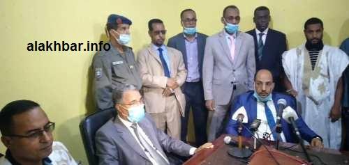 جانب من انطلاق مسطرة المحطة الجهوية لإذاعة موريتانيا بمدينة نواذيبو/ الأخبار