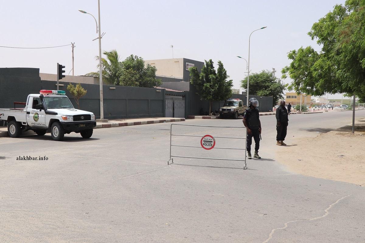 سيارة تابعة للشرطة في محيط الإدارة العامة للأمن بنواكشوط (الأخبار - أرشيف)