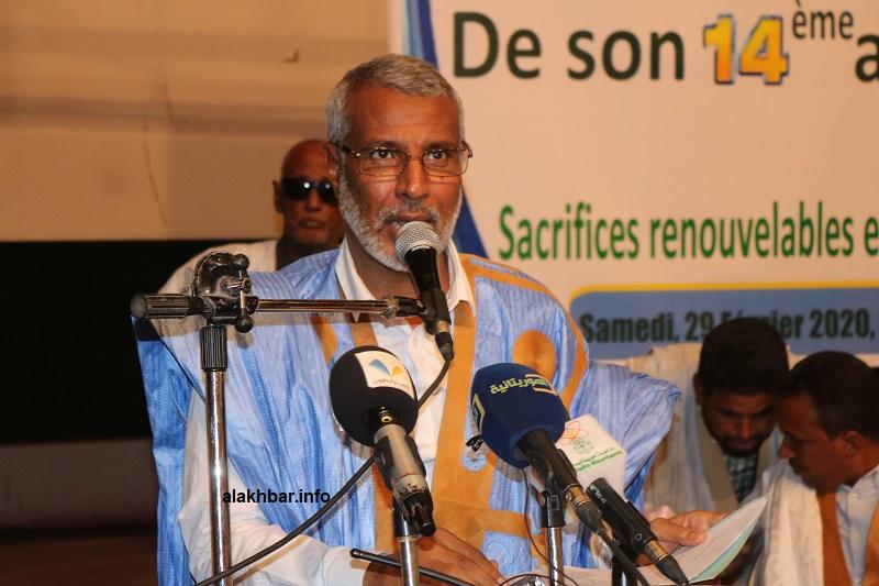 """رئيس حزب الاتحاد والتغيير الموريتاني """"حاتم"""" صالح ولد حننا (الأخبار - أرشيف)"""