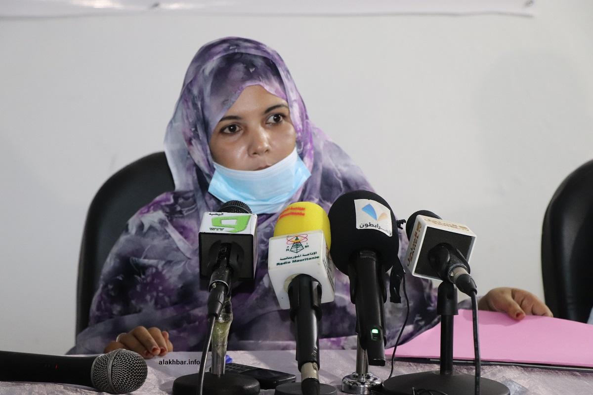 المديرة الناشرة للموقع مريم بنت عبد الوهاب خلال كلمتها في حفل انطلاقته (الأخبار)
