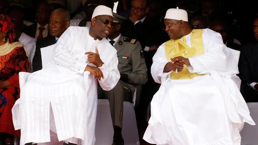 الرئيسان الغامبي آدما بورو، والسنغالي ماكي صال