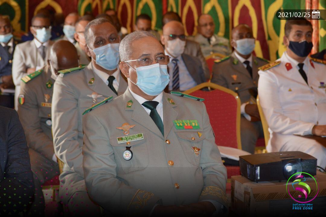 استمع الوفد العسكري لعروض عن المنطقة الحرة / خلية الإعلام في المنطقة الحرة