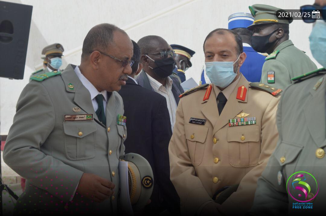 جانب من حضور القادة العسكريين في المنطقة الحرة/ الخلية الإعلامية للمنطقة الحرة