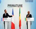 مؤتمر صحفي مشترك بين الوزير الأول المالي سومايلو بوباي مايغا، ورئيس الحكومة الفرنسية إدوارد فيليب.