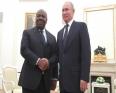 الرئيسان الغابوني علي بونغو أونديمبا والروسي فلاديمير بوتين.