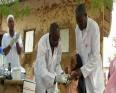 حملة تلقيح للأطفال في نيجيريا ضد التهابا السحايا.