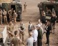 فلورنس بارلي و3 من نظرائها الأوروبيين خلال زيارة القاعدة الفرنسية بغاو - الصورة من صفحتها على تويتر
