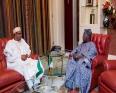 الرئيسان النيجيريان، الأسبق أولوسيجون، والحالي محمدو بخاري.