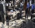 مشهد لهجوم انتحاري وقع بمدينة مايدوغري خلال يونيو 2015.