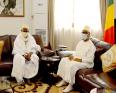 الرئيس المالي إبراهيم بوبكر كيتا والرئيس السابق للمجلس الإسلامي الأعلى محمود ديكو