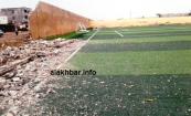 جانب من سقوط أجزاء ملعب نواذيبو/ الأخبار