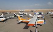 جانب من الطائرات التي حطت على كتن مطار نواذيبو