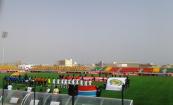 جانب من مباراة تانزانيا وغامبيا والتي انتهت بتعادل ايجابي/ الأخبار