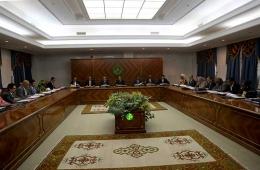 مجلس الوزراء خلال اجتماعه الأسبوع بالقصر الرئاسي (وما)