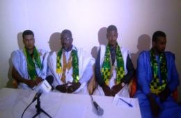 """جزء من المشرفين على حملة حزب اللقاء الذي دعا إلى التصويت ب""""لا"""" في اقتراع 5 أغسطس(تصوير الأخبار)"""