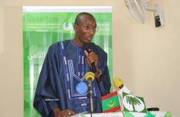 رئيس اللجنة التحضيرية للملتقى عثمان ماريغا خلال كلمته في حفل الافتتاح (الأخبار)