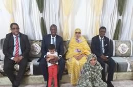 المفوض السامي لمنظمة استثمار نهر السنغالسميغا حمت غاني في منزل الراحل سيدي آمين ولد أحمد شل