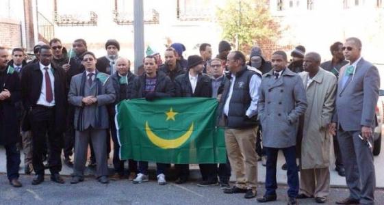 الجالية الموريتانية في واشنطن خلال وقفة احتجاجية سابقة لها
