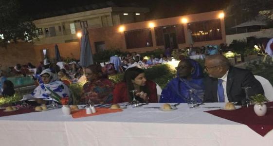 منصة الحفل الذي أقيم البارحة في نواكشوط