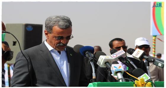 وزير التنمية الريفية ادي ولد الزين خلال نشاط سابق (الأخبار - أرشيف)