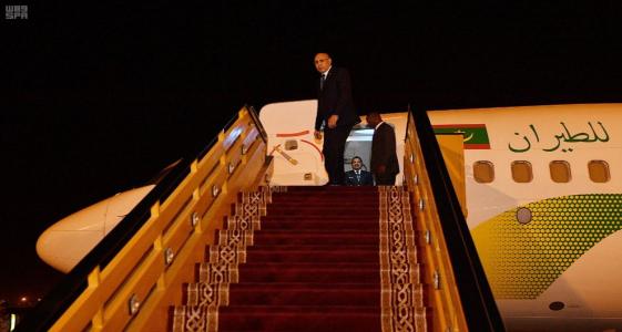 الرئيس محمد ولد الغزواني خلال سفر سابق