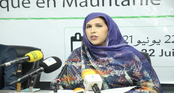 وزيرة التعليم العالي والبحث العلمي آمال سيدي محمد الشيخ عبد الله خلال نشاط سابق