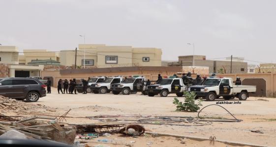شرطة مكافحة الشغب خلال تجمع سابق في العاصمة نواكشوط (الأخبار - أرشيف)