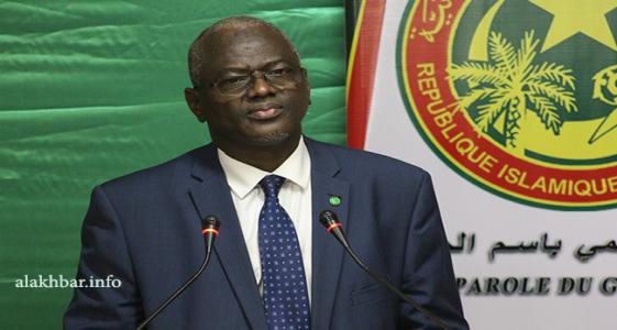 الوزير الناطق باسم الحكومة سيدي ولد سالم خلال مؤتمر صحفي سابق (الأخبار - أرشيف)