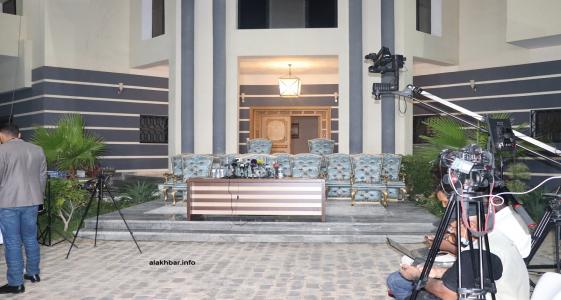مدخل منزل الرئيس السابق ولد عبد العزيز في مقاطعة لكصر (الأخبار - أرشيف)