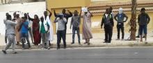 جانب من الوقفة الاحتجاجية زوال اليوم / الأخبار