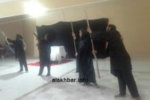 """جانب من عرض مسرحية """"هواجس"""" في دار الشباب بالترحيل/ الأخبار"""