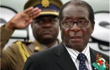الرئيس الزيمبابوي المستقيل روبيرت موغابي.