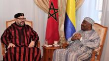 الرئيس الغابوني علي بونغو أونديمبا والعاهل المغربي محمد السادس.