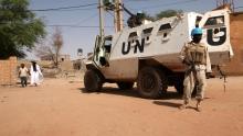 عناصر من قوات المينيسما بمدينة تومبوكتو شمال مالي 19 سبتمبر 2016.