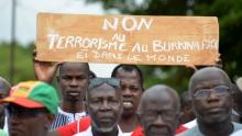 """مظاهرة في واغادوغو ضد """"الإرهاب""""."""