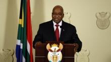 جاكوب زوما رئيس جنوب إفريقيا المستقيل من منصبه.
