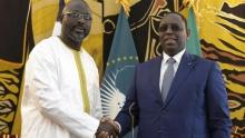 الرئيسان السنغالي ماكي صال والليبيري جورج ويا.
