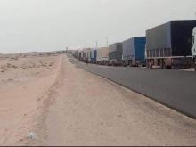 تكدست مئات الشاحنات الموريتانية والمغربية بالمعبر